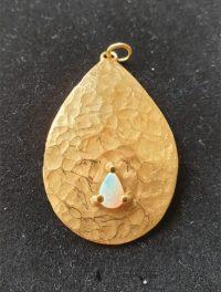 Anhänger Silber vergoldet mit Opal