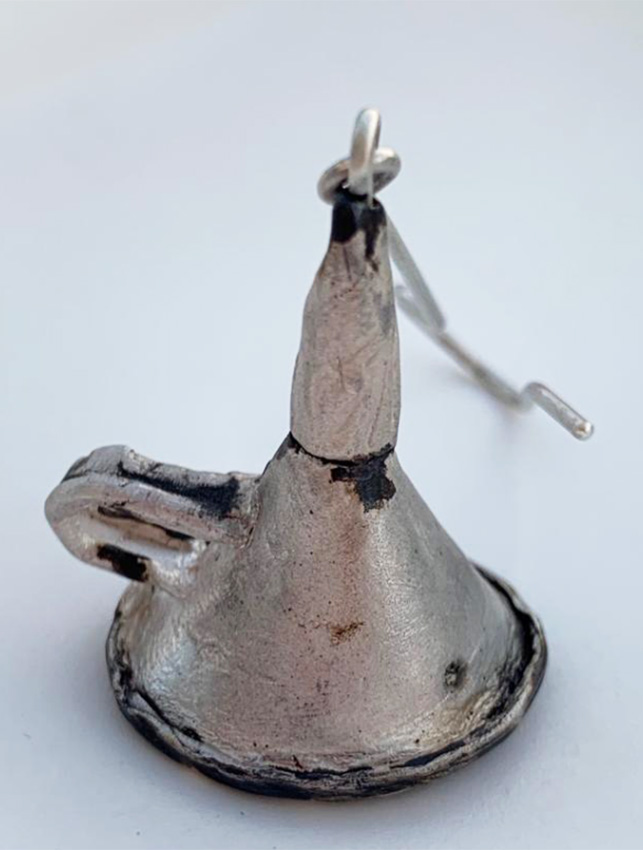 """Ohrhänger """"Trichter"""" aus Silber oxidiert"""