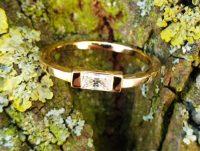Ring aus Rosegold mit Zirkonia