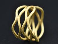 """Silberring """"Netz"""" vergoldet"""