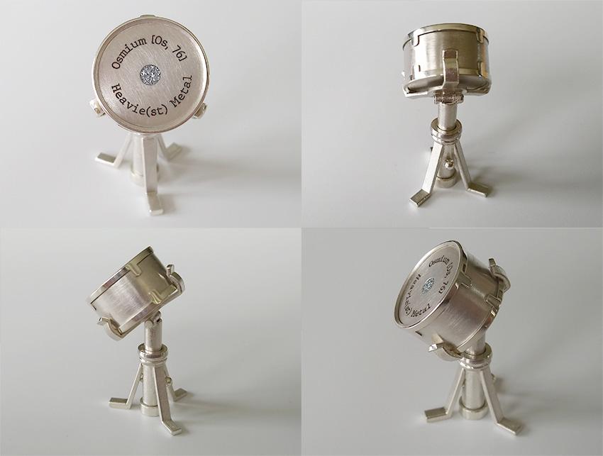 Miniatur - Snare Drum mit Osmium